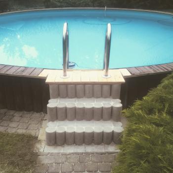 Neuanlage einer Pooltreppe